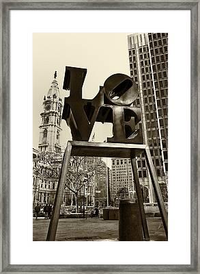 Love Philadelphia Framed Print by Jack Paolini