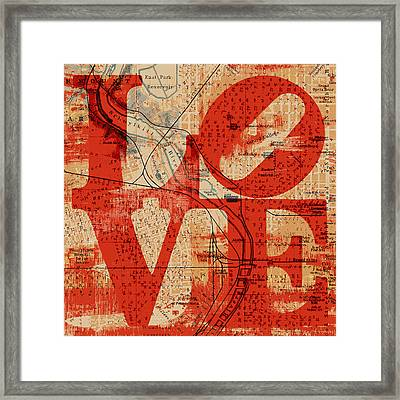 Philly Love V2 Framed Print