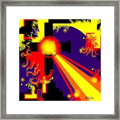 Love Poured Out Framed Print by Yvonne Blasy