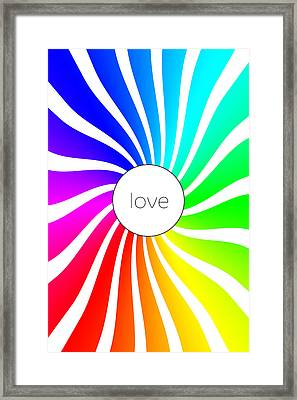 Love - Rainbow Swirl Framed Print