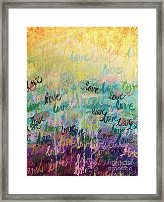 Love Reigns Framed Print