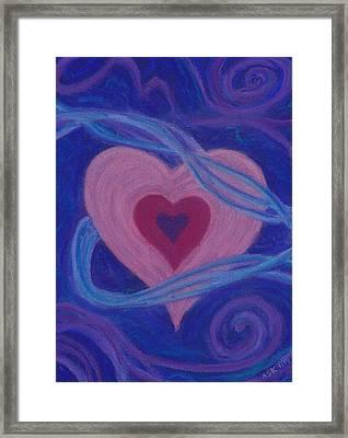 Love Ribbons Framed Print