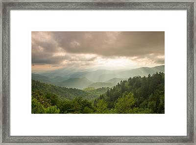 Love Shines Down Framed Print