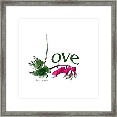 Framed Print featuring the digital art Love Shirt by Ann Lauwers