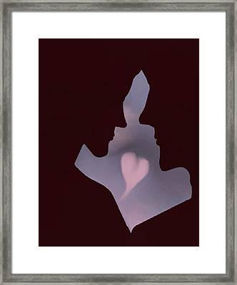 Love Silhouette Framed Print