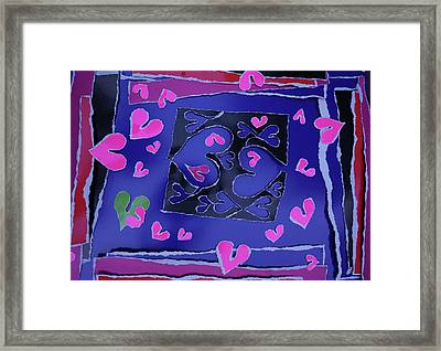Love Soul Love Skeloton And The Subject Of Life Framed Print