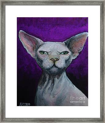 Love Sphynx Cat Framed Print