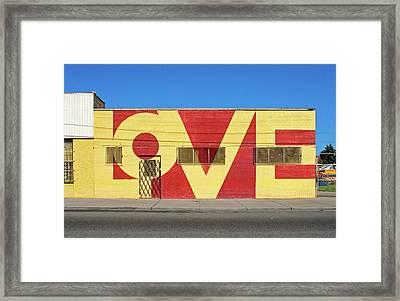 Love Store Front Framed Print