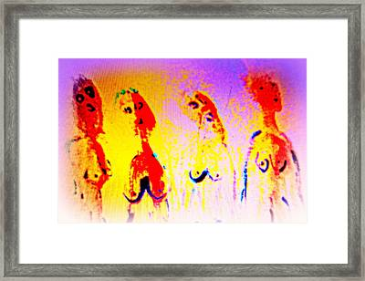 Telling A Love Story To All The Humble People Out There  Framed Print by Hilde Widerberg