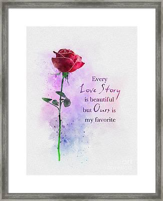 Love Story Framed Print