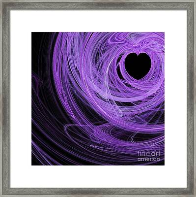 Love Swirls . Square . A120423.689 Framed Print by Wingsdomain Art and Photography