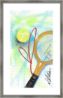 Heart Tennis Framed Print