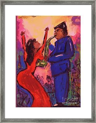 Love That Sax Man Framed Print by Sidra Myers