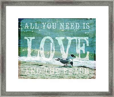 Framed Print featuring the photograph Love The Beach by Jan Amiss Photography