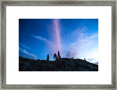 Love The Color Up High Framed Print by Brian Williamson