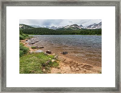 Love The Colorado Rocky Mountains Framed Print
