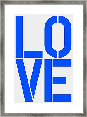 Love Framed Print by Three Dots