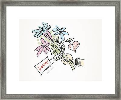 Love To All Framed Print by Yvonne Wright
