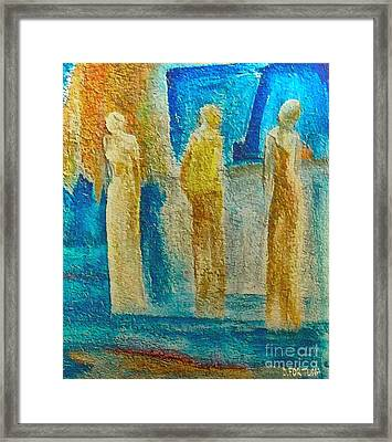 Framed Print featuring the mixed media Love Triangle by Dragica  Micki Fortuna