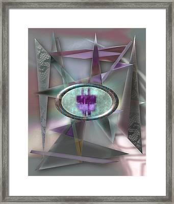 Love Triangles 2 Framed Print by Warren Furman