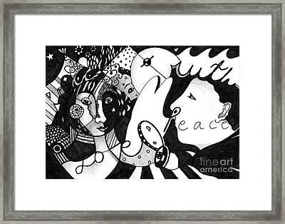 Love Truth Peace Framed Print by Helena Tiainen