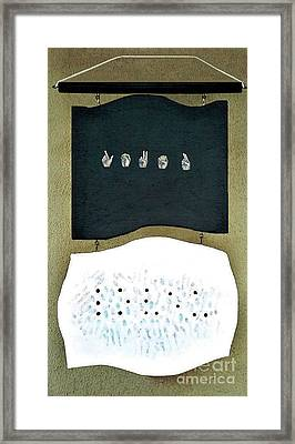 Framed Print featuring the painting Love U by Fei A