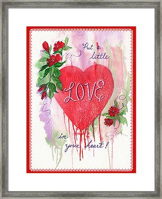 Framed Print featuring the painting Love Valentine by Marilyn Smith