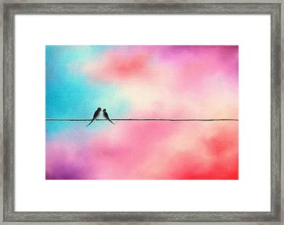 Love Will Keep Us Framed Print by Rachel Bingaman