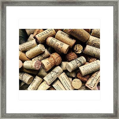 Love Wine! #wine #juansilvaphotos #cork Framed Print