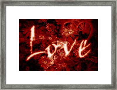 Love With Flowers Framed Print by Phill Petrovic