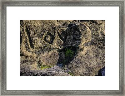 Love Written In Stone Framed Print