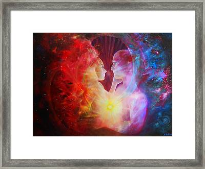 Love Written In The Stars Framed Print by Michael Durst