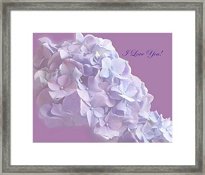 Love You Greetingcard Framed Print