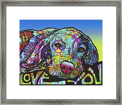 Love You Hound Framed Print