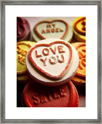 Love You Framed Print by Mark Rogan