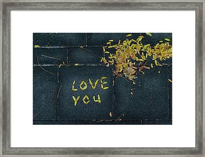 Love You Framed Print