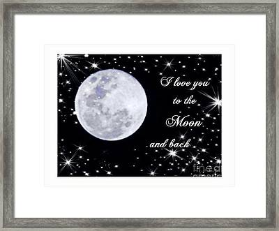 Love You To The Moon And Back Framed Print by Michelle Frizzell-Thompson