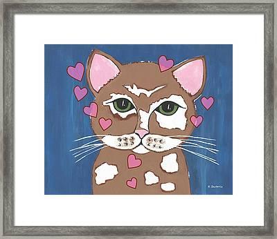 Loveable Cat Framed Print by Kathleen Sartoris