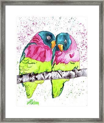 Lovebirds Framed Print by D Renee Wilson