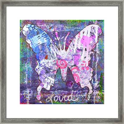 Loved Butterfly Framed Print