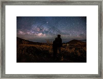 Loveing The  Universe Framed Print by Eti Reid