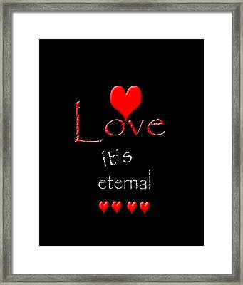 Framed Print featuring the photograph Love....its Eternal by Cherie Duran