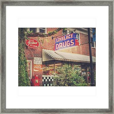 Lovelace Drugs #enlight #downtown Framed Print