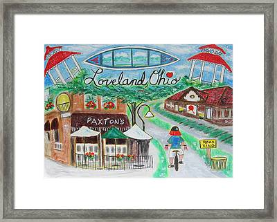 Loveland Ohio Framed Print by Diane Pape