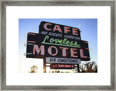 Loveless Cafe And Motel Nashville Framed Print by David M Porter