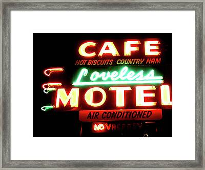 Loveless Cafe- Art By Linda Woods Framed Print by Linda Woods