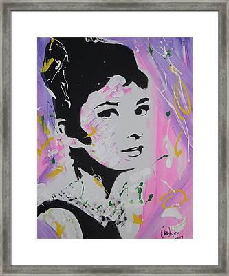 Lovely Audrey Framed Print