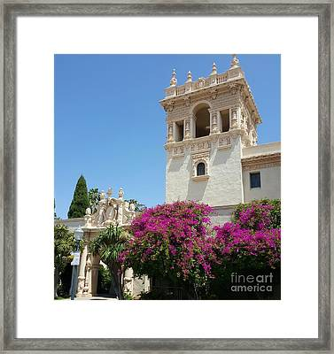 Lovely Blooming Day In Balboa Park San Diego Framed Print