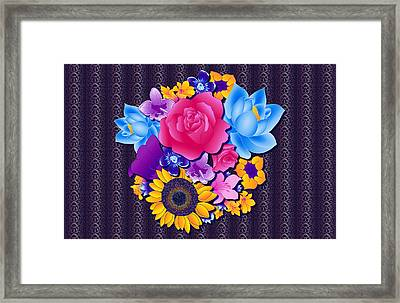Lovely Bouquet Framed Print by Samantha Thome