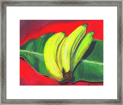 Framed Print featuring the painting Lovely Bunch Of Bananas by Arlene Crafton